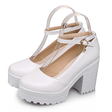Mary redondo Beige Sandalias Hebilla Zapatos Rojo PU 06774986 Negro Dedo Verano Mujer Jane Plataforma q8tSZcx
