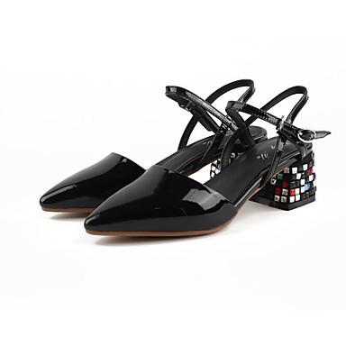 Cuir Confort Bottier Noir 06776862 Rouge Sandales Femme Nappa Eté Chaussures Blanc Talon TpnqFAHw