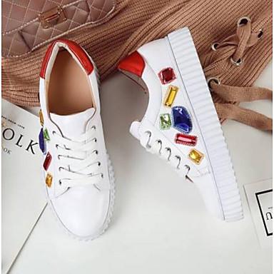 Blanc Nappa Confort Rose Chaussures rond Cuir Talon 06790865 Femme Basket Plat Bout Eté nfCxEg