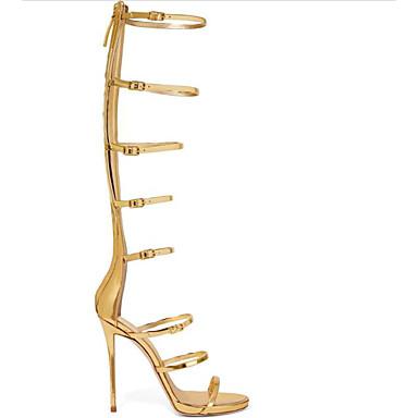 Escarpin Eté Chaussures Talon 06795266 Or Aiguille Polyuréthane Basique Sandales Confort Femme IqOZZ