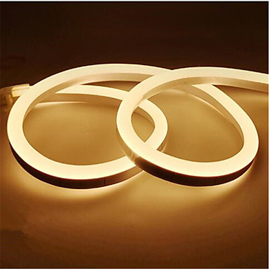 abordables Bandes Lumineuses LED-1m 12v led bande lumineuse étanche led lampe de bande 2835 smd flexible led néon bande led panneau de signalisation tube corde lumières