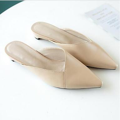 Printemps Cuir Noir Chaussures Blanc Femme Nappa fermé Bout Talon Sabot Eté 06840847 Mules Confort amp; Bottier wRtqa65q4