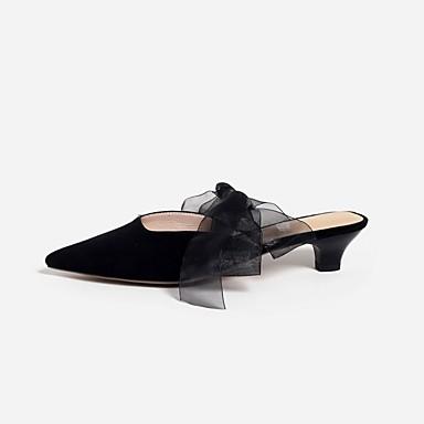 Talon Bottier Printemps Femme Noir amp; Amande Sabot Daim été 06832647 Chaussures Confort Mules O88CaTx