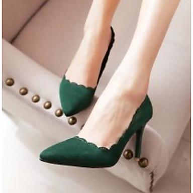 PU Verde Stiletto Negro Ejército Mujer Zapatos Confort 06780506 Tacón Básico Tacones Primavera Rosa Pump wvCv5Fq