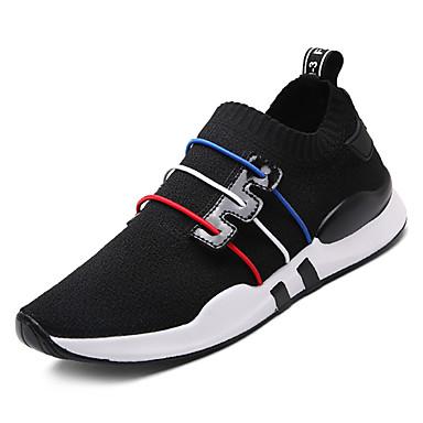 Rouge Basket 06836504 Chaussures Plat Noir Maille Talon Confort Femme élastique Eté Tissu Blanc xPgTYcq7w