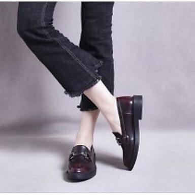 Bottier Microfibre et Chaussures Printemps Femme Confort 06830451 Bourgogne Talon Chaussons Mocassins Noir Automne D6148 Zv5HYYq6w