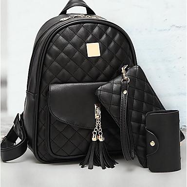 cheap Backpacks-Women's Bags PU(Polyurethane) Backpack Zipper Crocodile Black