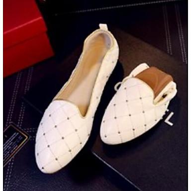 Printemps et 06778222 D6148 Chaussons Blanc Verni Bas Moccasin Femme Confort Chaussures Cuir Mocassins Talon Or qT6xHUt
