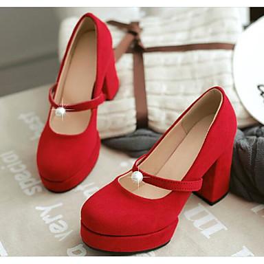 Confort Chaussures Daim Bottier Chaussures Printemps Escarpin à Basique Talons Rouge Noir Talon Femme Vert 06785769 qtY4w5q