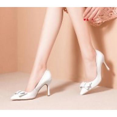 Printemps Confort Basique Cuir 06835391 Blanc Escarpin Nappa Talon à Noir Chaussures Aiguille Talons Femme Automne Chaussures qTWUAtnn