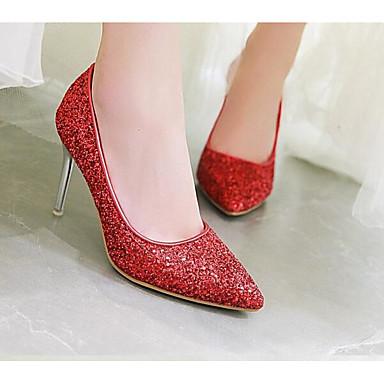 Escarpin Chaussures Or Chaussures Rouge 06831347 à Printemps Matière Aiguille Talon Basique Confort Automne Femme Argent Talons synthétique wBYqxYdg