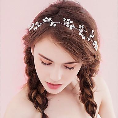 voordelige Dames Sieraden-Dames Eenvoudig Stof Legering Kristal Haarbanden Feest Ceremonie - Bloemen
