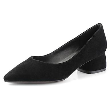 Noir Talons Daim Femme Chaussures Bottier Talon 06831899 à Rose Printemps Confort Chaussures HzYqz1