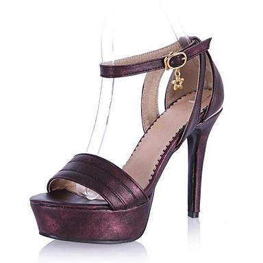Almendra Azul Zapatos 06832251 Tacón Sandalias Stiletto Morado PU Confort Primavera Mujer FwqzUz