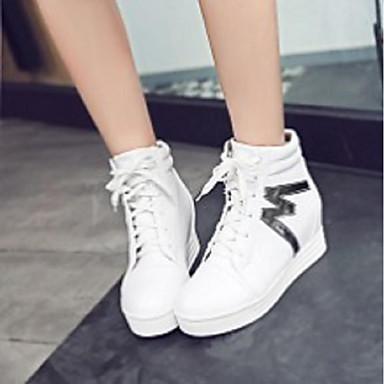 Talon hiver Chaussures 06796775 Polyuréthane Automne Blanc Confort Rose Noir Basket Femme Plat 7CpqTUxCw