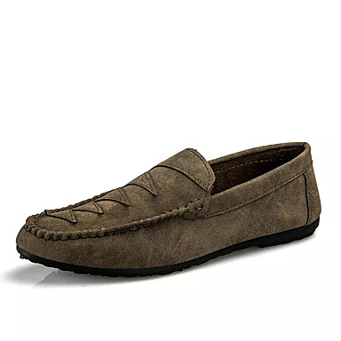 Men's Moccasin PU(Polyurethane) Black Fall Loafers & Slip-Ons Black PU(Polyurethane) / Brown d68b8e