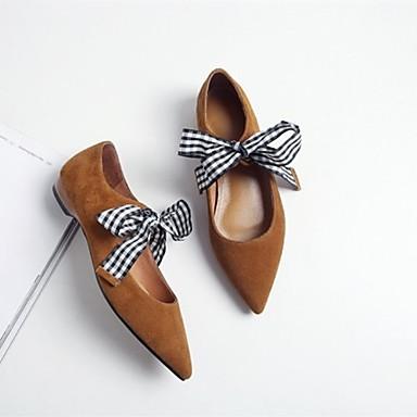 Ballerines Noir Ballerine Chaussures Talon 06834867 Marron Daim Bas Violet Femme Eté 0AIq60x