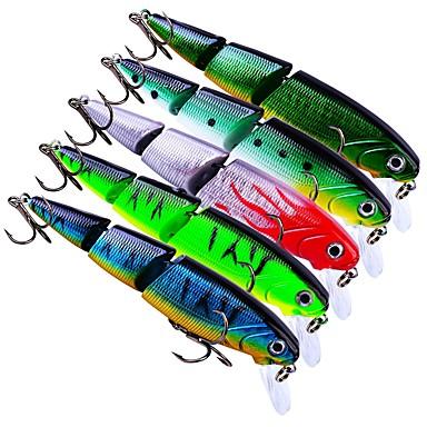 5 pcs leurres de pêche Poissons nageur / Leurre dur Plastique Extérieur Affaissé Pêche d'appât Pêche au leurre Pêche générale