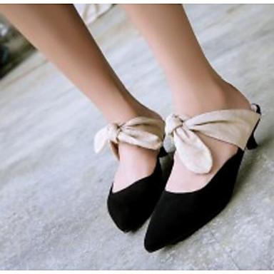 amp; mouton Heel 06795878 Amande de Kitten Peau Noir Mules Femme Printemps Confort Chaussures Sabot Eté Hq86P6tw