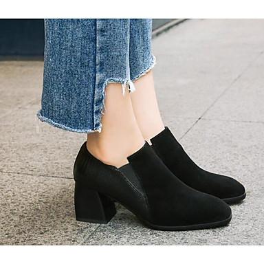 D6148 Printemps Confort Mocassins Noir Cuir Bottier Talon Nappa Femme 06777611 Chaussures et Automne Chaussons Ht14qwzw