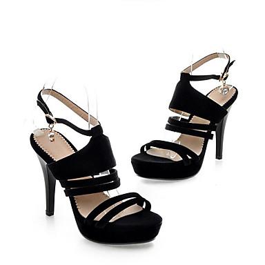 Bride Talons Chaussures Chaussures Noir 06785739 été Femme Aiguille de Polyuréthane Printemps Talon à Cheville wqxAxgIUz