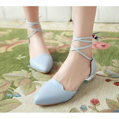 06792320 Azul Rosa Mujer Confort Bailarinas Verano Zapatos Plano Primavera Tacón Blanco PU zxqwF4zA