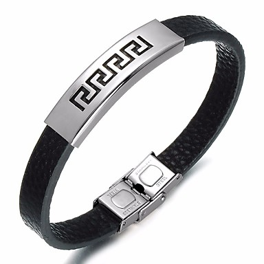 Herr Trendig Läder Armband - Läder c1c6b515bc399
