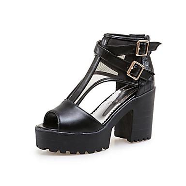 Sandales Noir Eté Polyuréthane Rose Femme Bottier Confort ouvert Bout Boucle Chaussures Bleu Talon 06818487 UIcv1