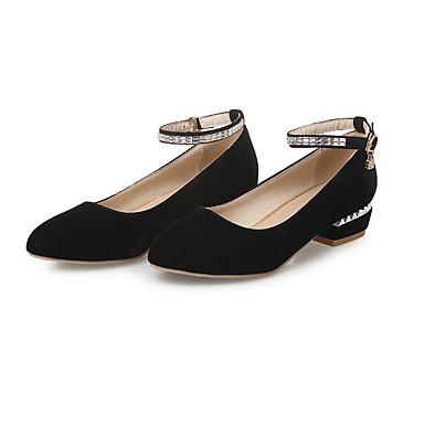 06834354 Zapatos Negro Confort Tacones Azul Cuadrado Rojo Jane Mujer Ante Mary Tacón PU Primavera RO4q4Ba