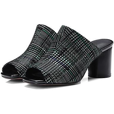 Confort Printemps de Talon Rouge Bottier Femme Vert Peau Chaussures 06785329 mouton Sandales wxXwpFq