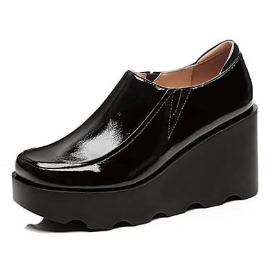 D6148 06840221 Nappa semelle compensée Noir Bourgogne Printemps Mocassins Femme Bout Chaussons et Chaussures Confort Hauteur fermé Eté de Cuir EU7OqzwS
