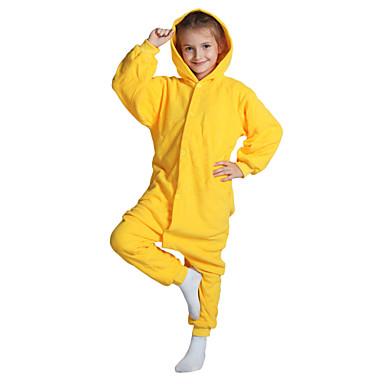 Niños Pijamas Kigurumi Pika Pika Pijamas de una pieza Lana Polar Amarillo Cosplay por Niños y niñas Ropa de Noche de los Animales Dibujos animados Festival / Celebración Disfraces