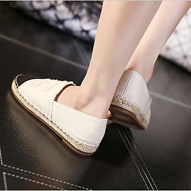 Blanc Amande Femme Polyuréthane Plat Mocassins Chaussures Noir 06795843 Confort Chaussons D6148 et Talon Printemps été wOPwR