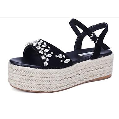 Creepers Peau Chaussures Rose 06827685 Escarpin de mouton Basique Confort Sandales Noir Eté clair Vert Femme dragée wqnFz5Sz