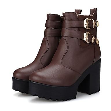 semelle 06795405 Hiver Noir Blanc Hauteur Confort de Polyuréthane Marron Bottes Femme Chaussures compensée Zx7EZH