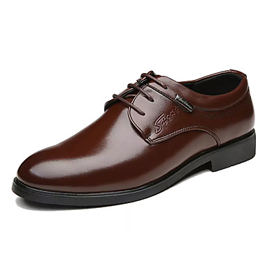 Men's Formal Shoes PU(Polyurethane) Fall Brown Business Oxfords Black / Brown Fall d89682