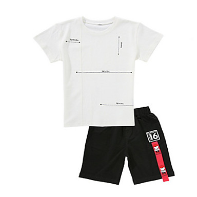 Djeca Dječaci Osnovni Jednobojni Kratkih rukava Komplet odjeće