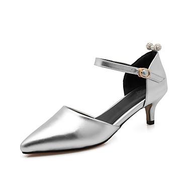Rose Polyuréthane à Chaussures Printemps Argent 06833375 été Talons Femme Aiguille Chaussures Or Confort Talon 5Y7qTw