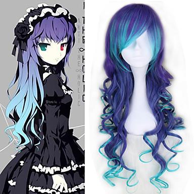 Vocaloid Megurine Luka Todo 30 pulgada Fibra resistente al calor Azul Animé Pelucas de Cosplay