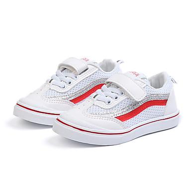 Djevojčice Cipele Mrežica / PU Proljeće ljeto Udobne cipele Sneakers Hodanje za Djeca Crn / Crvena