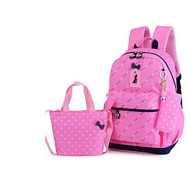 Žene Torbe PU Bag Setovi 3 kom Mašna Blushing Pink / Dark Blue / Crvena