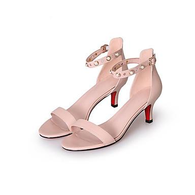 Rose Aiguille Confort Eté Nappa Noir Femme Blanc 06833226 Cuir Escarpin Talon Chaussures Sandales Basique zRqw6x7