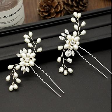 voordelige Dames Sieraden-Dames Eenvoudig Stof Legering Kristal Haarstokjes Feest Ceremonie - Bloemen