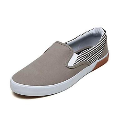 Homme Chaussons+D6148 Chaussures de confort Toile Printemps Décontracté Mocassins et Chaussons+D6148 Homme Noir / Gris cc261d