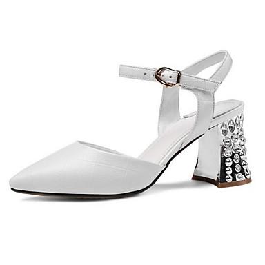 Talons Nappa Noir Cuir Basique Printemps Gris 06849004 Femme Chaussures Blanc Chaussures à Escarpin Talon Bottier qZwR8B