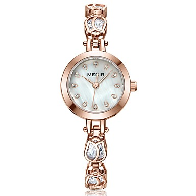 baratos Relógios Senhora-MEGIR Mulheres Relógio Elegante Relógio de Pulso Relógio de diamante Japanês Quartzo Cobre Ouro Rose 30 m Impermeável Novo Design Legal Analógico senhoras Fashion Elegante - Ouro Rose