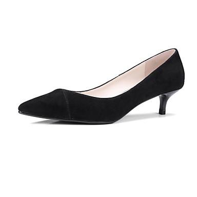Chaussures Daim Talon Noir Femme 06841107 Eté Bourgogne Aiguille à Chaussures Confort Talons I05q7