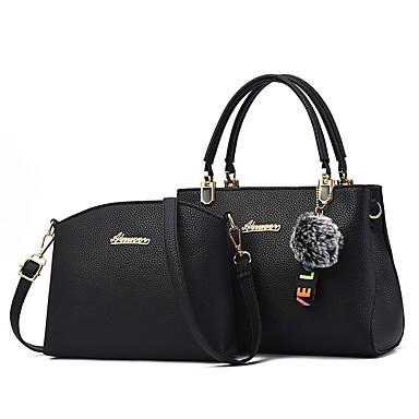 44adc2182a Women s Bags PU(Polyurethane) Bag Set 2 Pieces Purse Set Zipper Gray    Purple   Wine