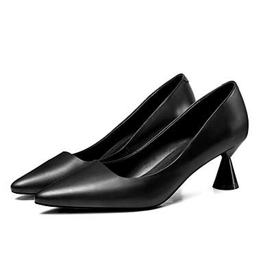 Talon Chaussures Nappa Femme Cuir 06841437 Confort Noir Basique wzEZfxq7H