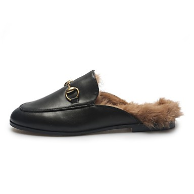 Mules Noir Femme hiver Confort Automne Sabot Plat Talon Cuir Nappa amp; Chaussures 06863713 nqUxq4pfR